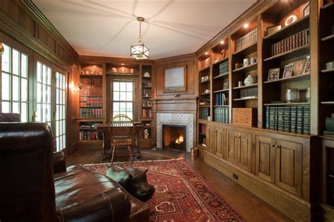 country villa traditional home office new york by