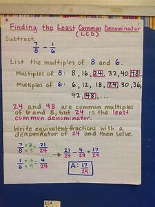 Least common denominator chart | Mathematics | Pinterest