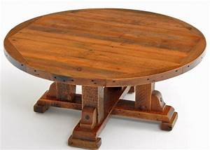 round wooden rustic coffee table distressed aged reclaimed With round barnwood coffee table