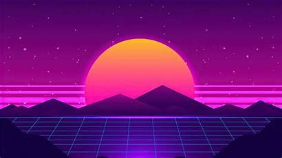 Synthwave 4k Sun Wallpapers Retro Background Purple