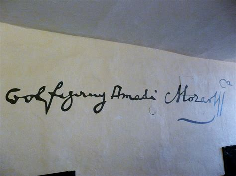 Wolfgang Amadeus Mozart Signature As Seen On A Wall In His