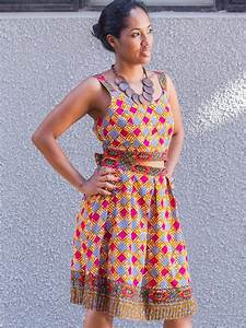 robe en wax tissu pagne africain avec ouverture ceinture With robe wax moderne