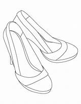 Coloring Heel Pages Sandals Shoes Heels Shoe Drawing Printable Template Bestcoloringpages Sheets Line Adult Dress Stilettos Getcolorings sketch template