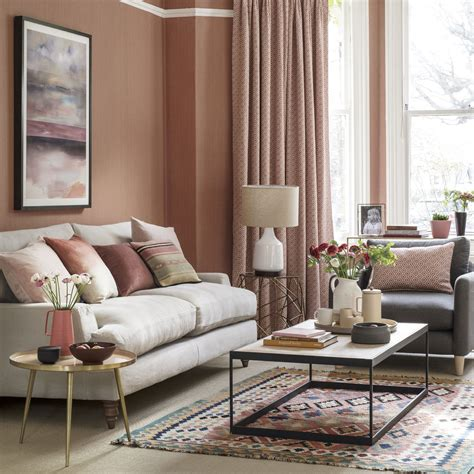 decorate livingroom how to decorate with coral blush tones ideal home