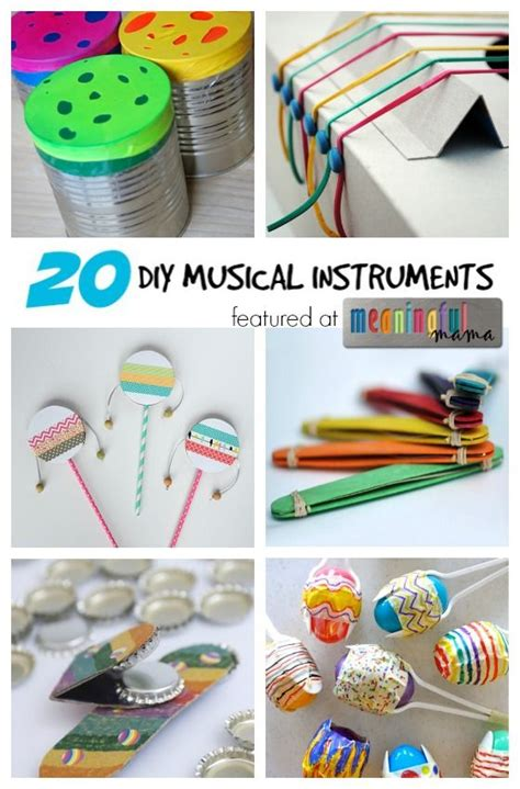 20 diy musical instruments inspirations for kidlets 276 | 180a104decdc1eee31b8a825a003f3ab