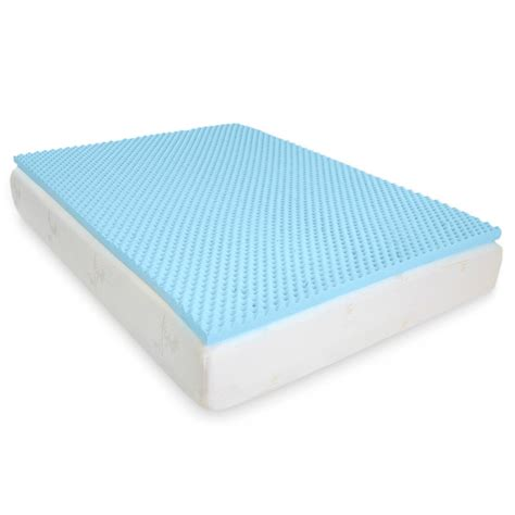 memory foam egg crate gel infused memory foam mattress topper