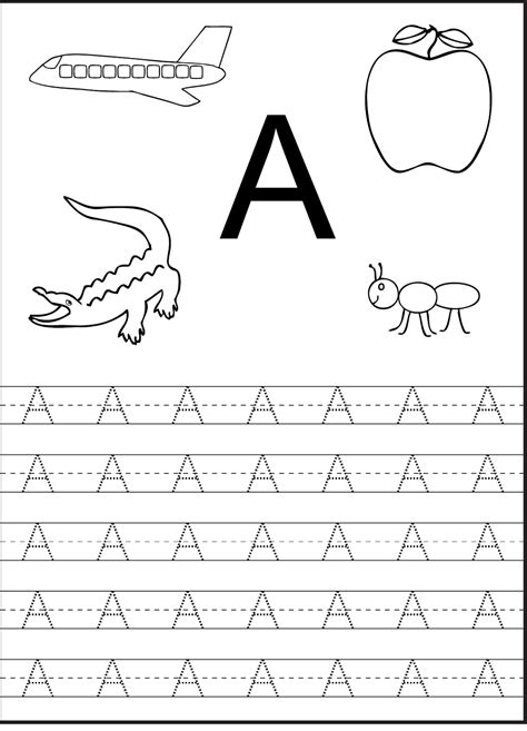 tracing the letter a free printable in 2018 alphabet and