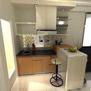 meja bar di dapur rumah minimalis gambar 715 home With design interior kitchen set minimalis