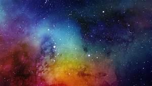 Download 2560x1440 wallpaper nebula, artwork, colorful ...