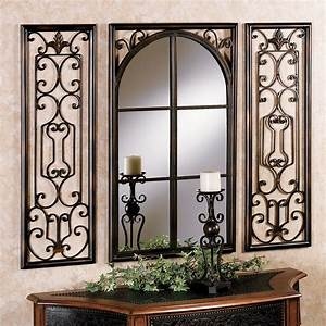 Provence bronze finish wall mirror set