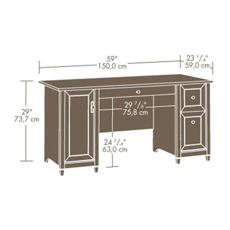 sauder ps1016 edge water computer desk with hutch the