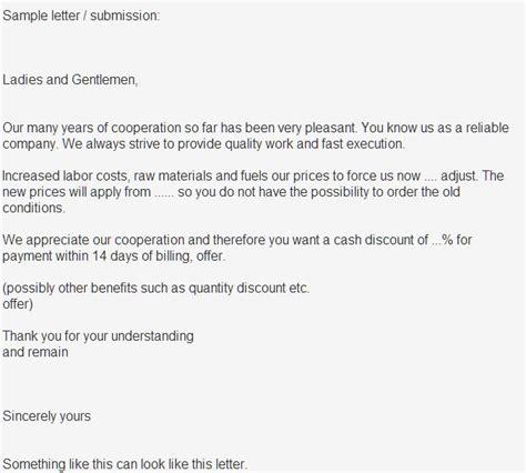 musterbrief freundliche preiserhoehung musterbriefe und