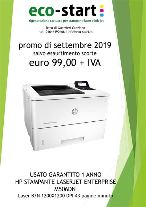 Some people may find this annoying, but printing on a wifi is often more troublesome. Stampante HP LaserJet Pro M506dn (di rete con fronte retro ...