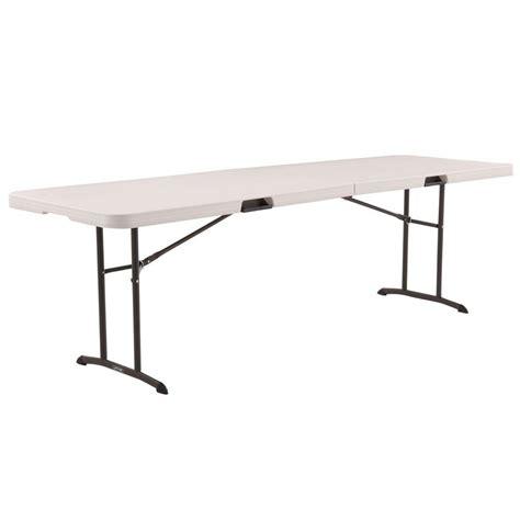 table de pliante ebay lifetime 8 ft almond fold in half table 80175 the home depot