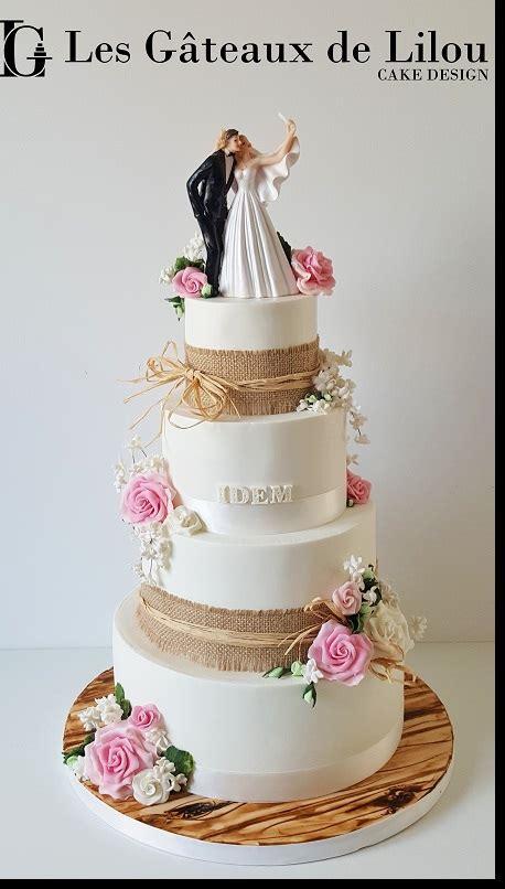 wedding cake bordeaux champetre  jute les gateaux de