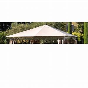 Tonnelle 4 X 3 : toile de toit tonnelle prado 3 x 3m taupe tonnelle ~ Edinachiropracticcenter.com Idées de Décoration