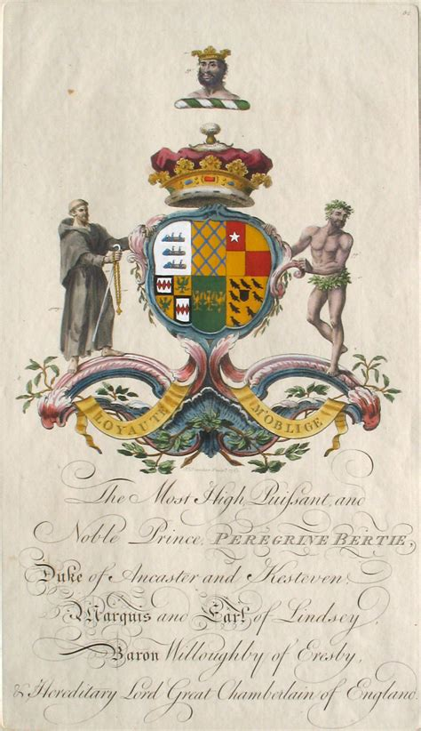 family crest    high puissant  noble prince