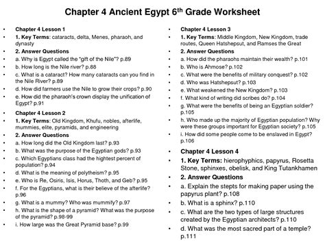 16 best images of 6th grade social studies printable