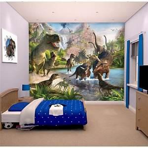 Fresque Murale Papier Peint : papier peint dinosaure achat vente papier peint dinosaure pas cher cdiscount ~ Melissatoandfro.com Idées de Décoration