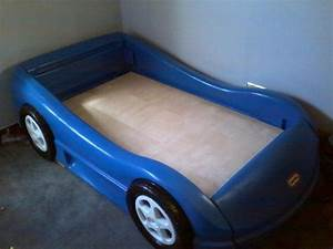 Blue Toddler Race Car bed for sale