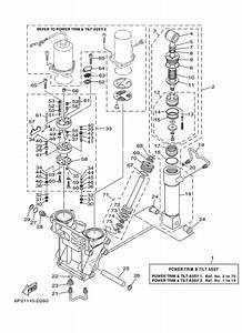 2006  U0026 Later Yamaha Power Trim  U0026 Tilt Assy 1 Parts For 250