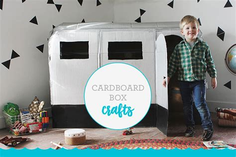 crafts      big cardboard box fisher price