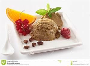 Delicious Coffee Ice-cream Dessert Royalty Free Stock ...