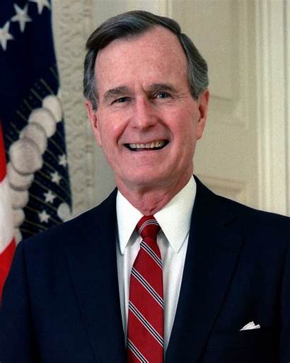 Bush George Wikipedia President United Official 1989