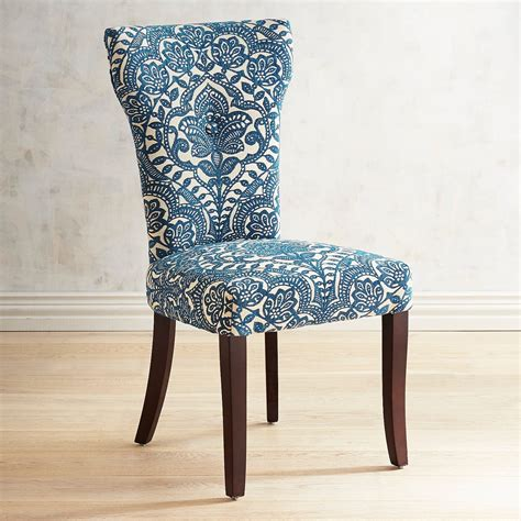 Pier 1 Dining Room Chairs carmilla blue damask dining chair pier 1 imports