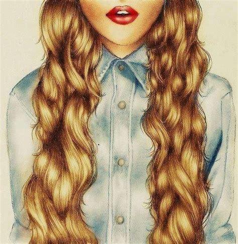 Girl Hair Drawing 100 Drawing Of Girl Tumblr Art Pinterest Wavy
