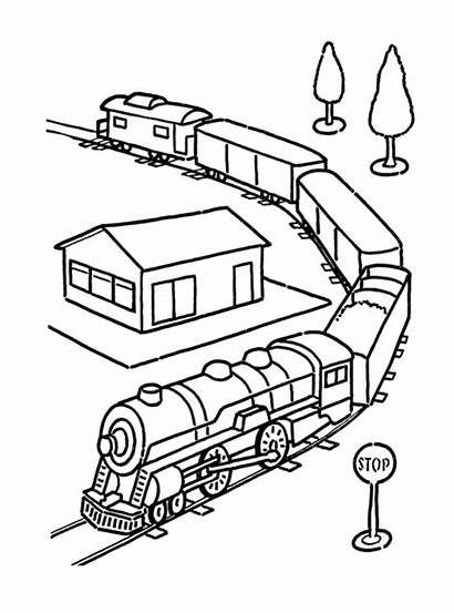 Coloring Train Transportation Pages Printable Sheet