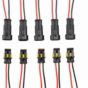 Diageng 5 Kit 2 Pin Way Car Waterproof Electrical
