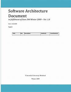 software architecture document final With software architecture document template