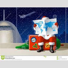 Santa's Christmas Travel Stock Vector Illustration Of Santa 11408309