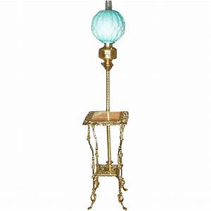 victorian brass onyx floor lamp from antiquesonhanover With edwardian brass floor lamp