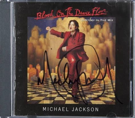 Blood On The Floor Albums by Michael Jackson Signed Blood On The Floor Cd