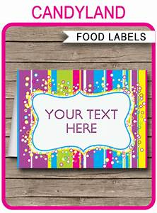 Circus Party Invitations Free Templates Colorful Food Labels Place Cards Printable Editable
