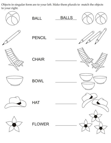 17 best ideas about plurals worksheets on