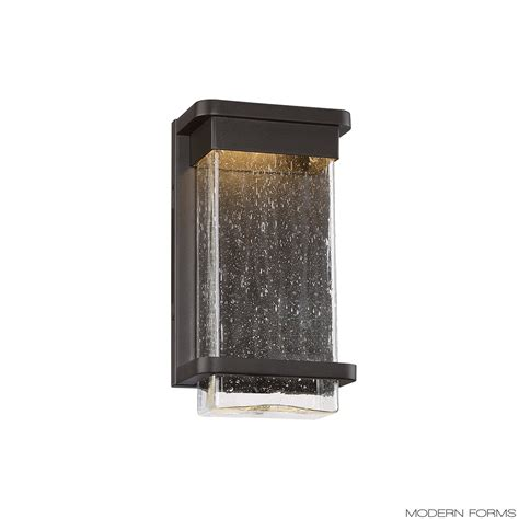 modern forms ws w32512 vitrine small led outdoor sconce