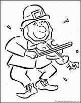 Leprechaun Coloring Fiddle Coloringhome Horror Rainbow Library Template Clipart 출처 Clip Preschool sketch template