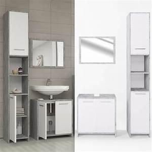Badezimmer Hochschrank Mit Wäscheklappe : badm bel set kiko wei grau beton badezimmer real ~ Bigdaddyawards.com Haus und Dekorationen