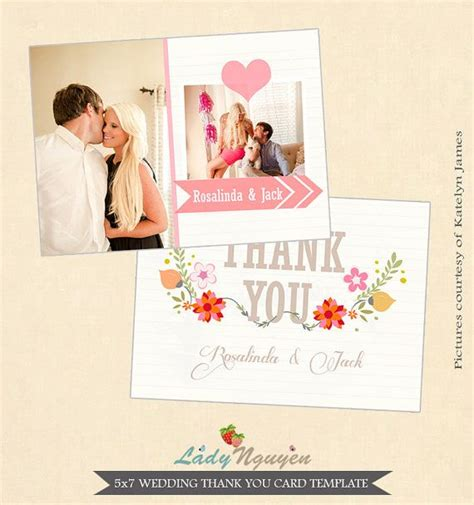 wedding thank you card photoshop template 32 best images about wedding thank you templates on