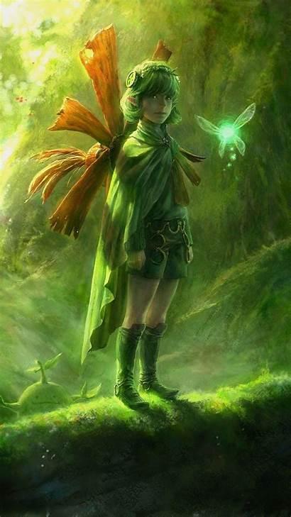 Zelda Legend Wallpapers Ocarina Mobile Iphone Saria
