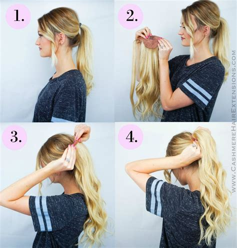 extensions ponytail hair pony clip tails cashmere easy hairstyles tutorial wrap tutorials cool