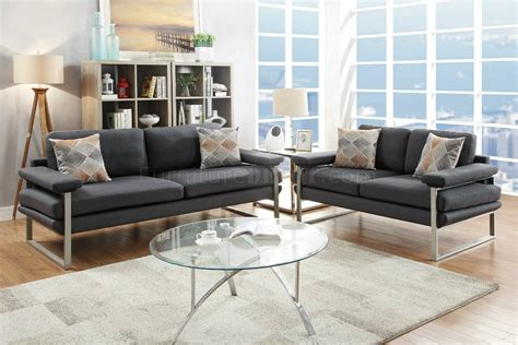 Black Fabric Loveseat by F6557 Sofa Loveseat Set In Ash Black Fabric By