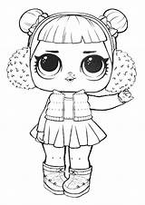 Lol Coloring Surprise Pages Doll Dolls Angel Snow Printable sketch template