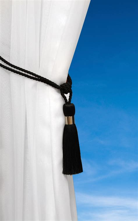 tassel tie back luxury cord curtain hold back metal