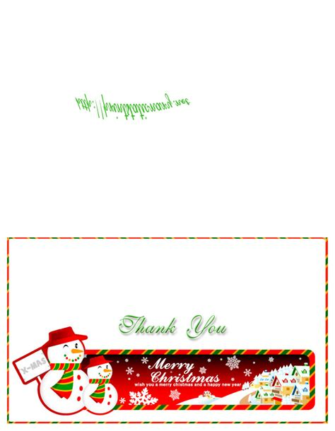 free printable holiday thank you cards free christmas thank you cards