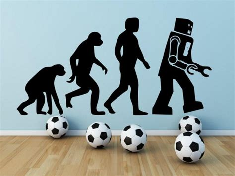 funny human robot evolution wall stickers store uk