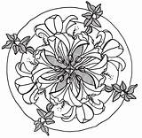 Mandala Hibiscus Drawing Flowers Flower Line Lily Drawings Coloring Pages Tattoo Colorful Adult Pencil Colouring Colored Inspiration Mandalas Tattoos sketch template